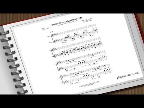 Wonderful Christmastime - Paul McCartney - Sheet Music