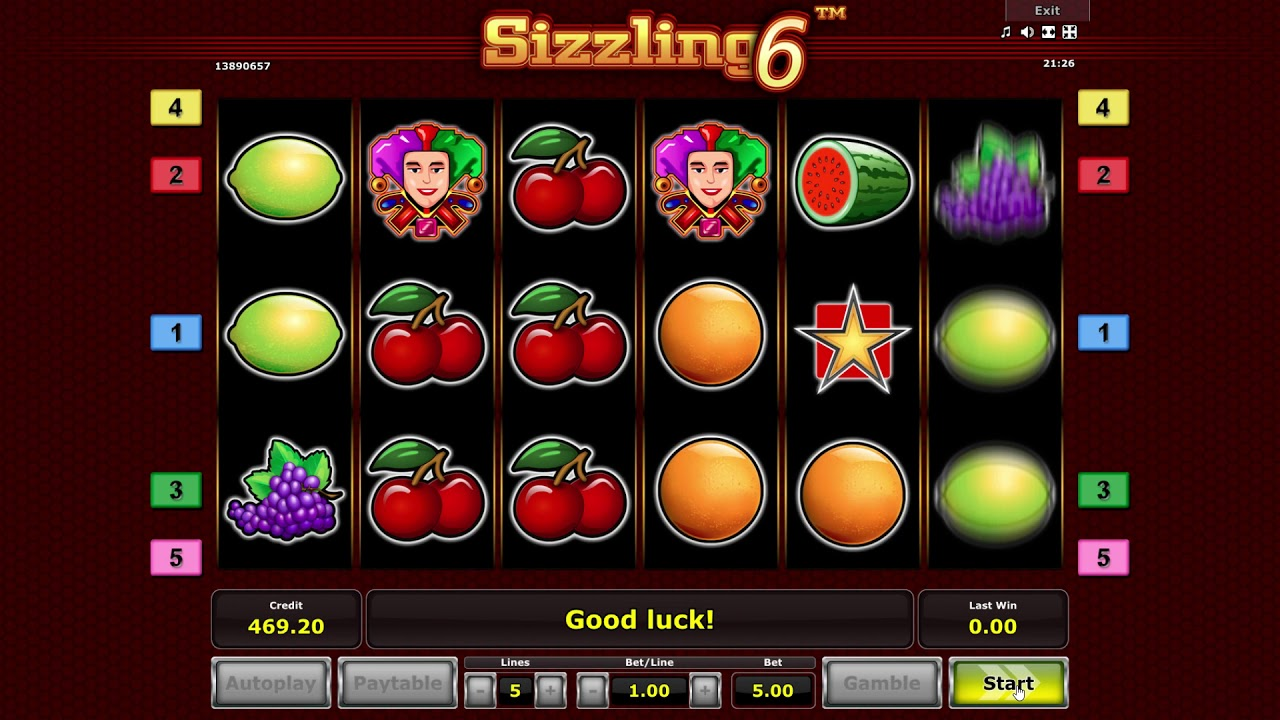 Slots Online Sizzling