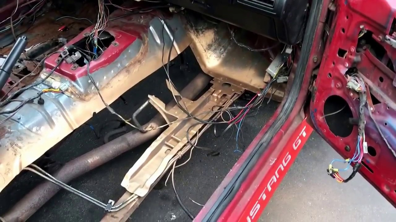 1988 Mustang Fox Body Floor Replacement Youtube