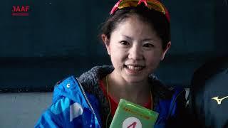 【さいたま国際マラソン】日本人1位 今田麻里絵 選手(岩谷産業)会見映像