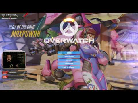 OVERWATCH Twitch Live Stream 1/10 - Terrible games...TERRIBLE Smurf Pain
