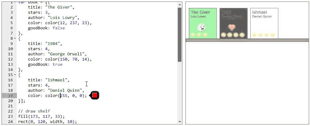JavaScript Bookshelf Program