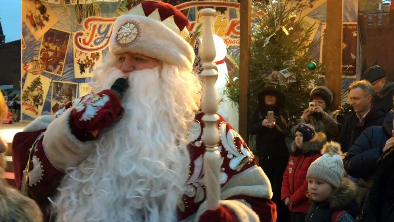 Новогоднее представление для детей на Красной Площади Видео для детей