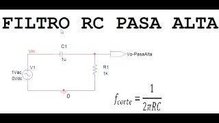 OrCAD PSpice 16.6. Filtro RC Pasa Alta. BODE