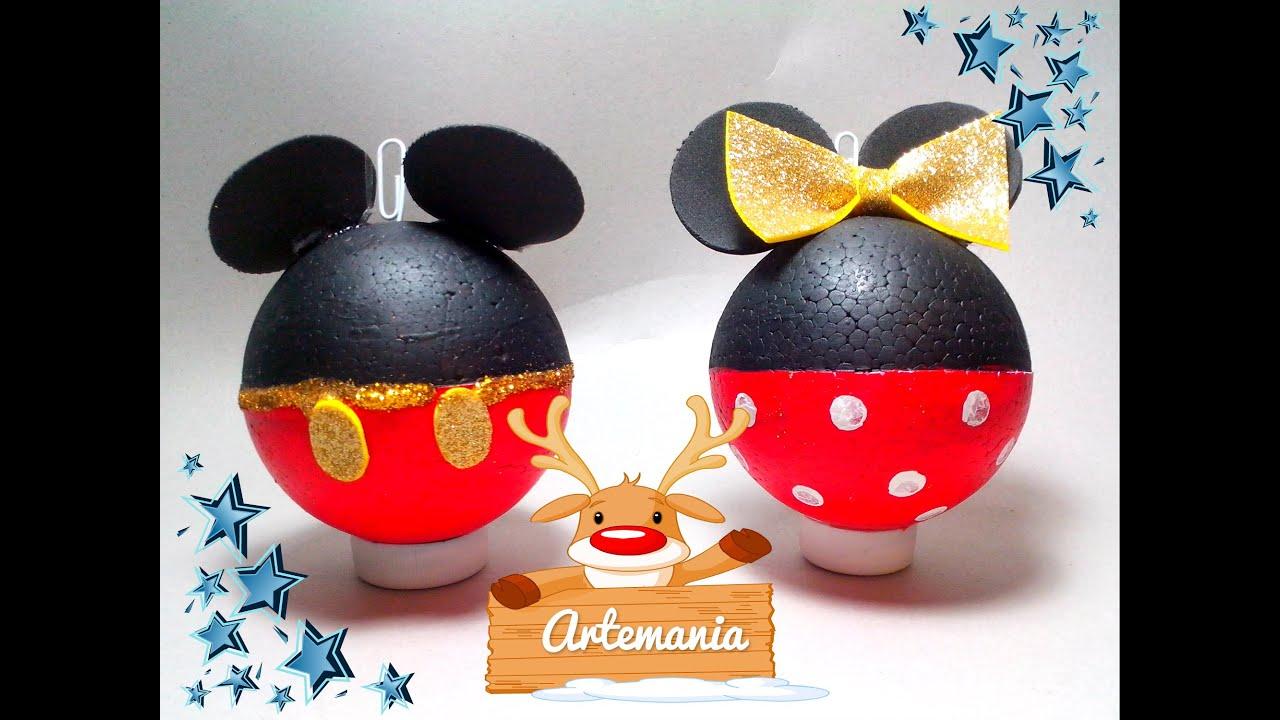 Esferas Mickey y Minnie Mouse  YouTube