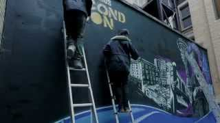 inFAMOUS Second Son Graffiti takes over PlayStation EU Office   Stop Motion