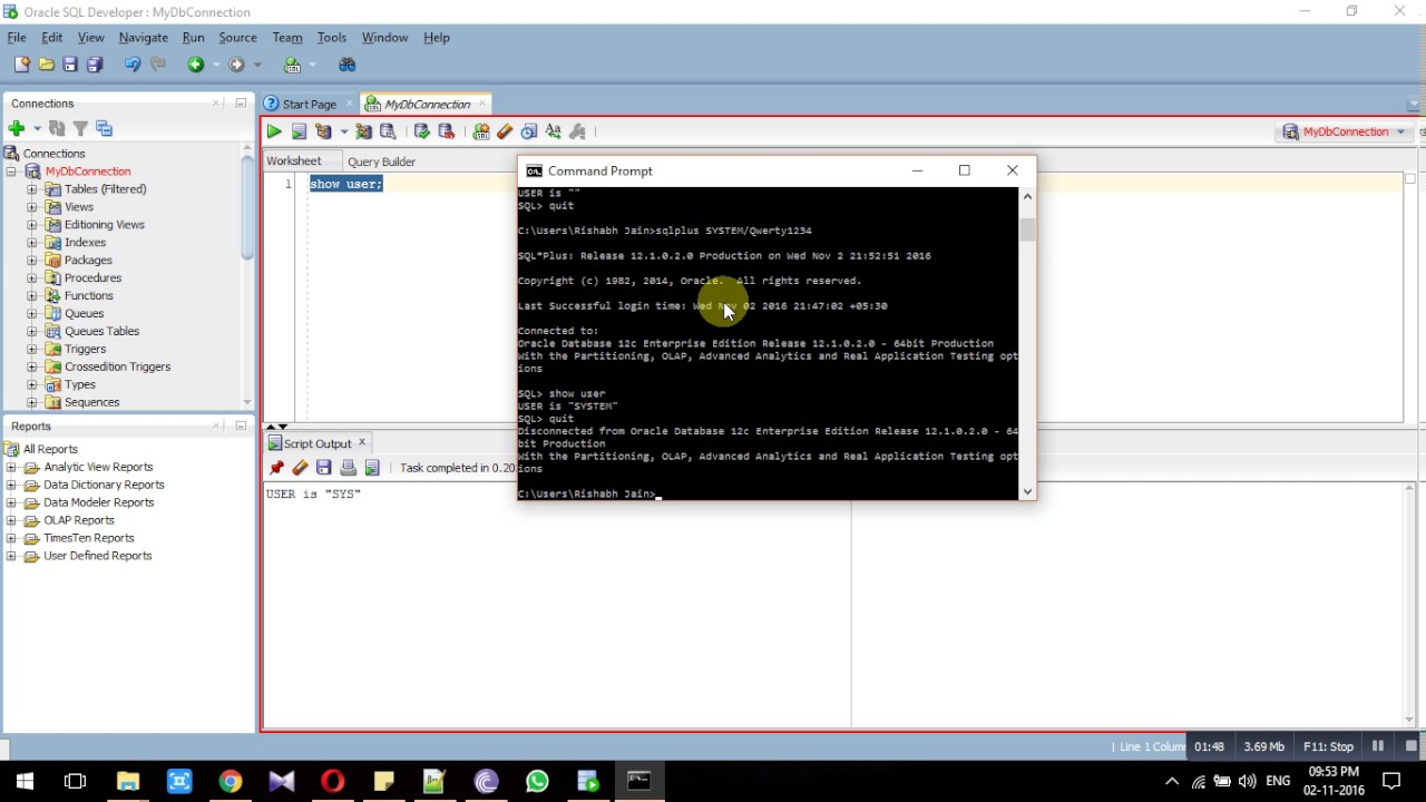 002 E - Connecting using Command Prompt (cmd)