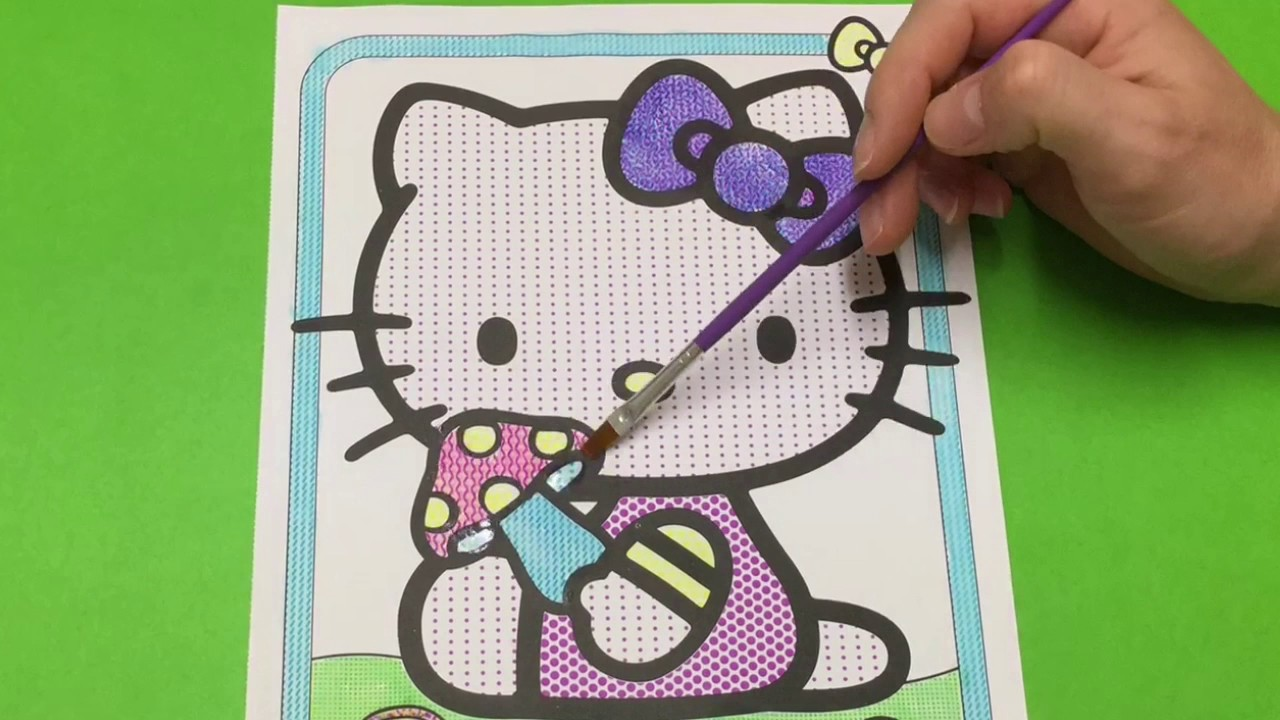 painting hello kitty coloring book hello kitty paint with water hello kitty picture