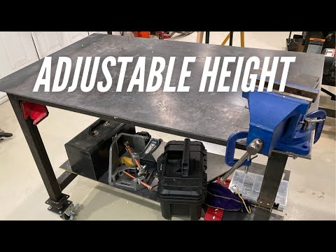Making a Height Adjustable Welding Table