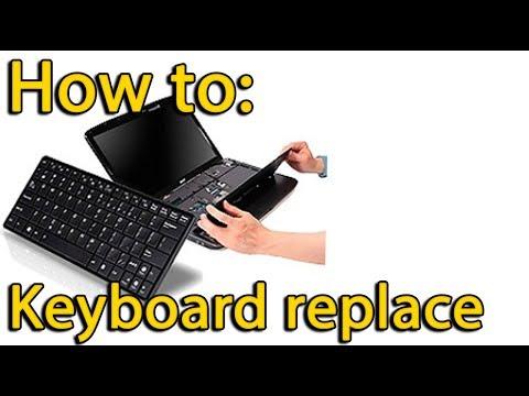 How to replace keyboard on Lenovo ThinkPad Edge E530, E535