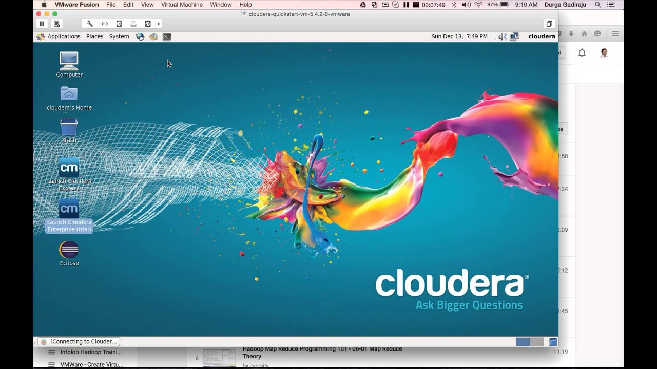 Hadoop Certification Cca Using Cloudera Quickstart Vm Youtube