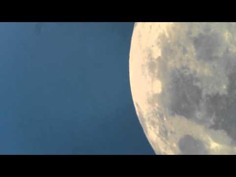 Daytime Moon through a telescope.