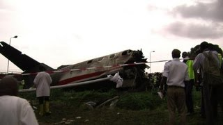 Charter plane crash-lands in Lagos with 20 on board
