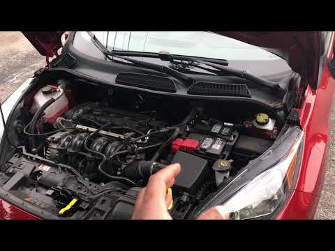 FORD FIESTA- Positive and negative battery terminal's location