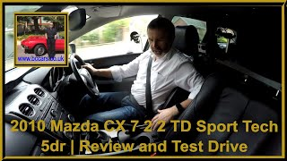 Review and Virtual Video Test Drive In Our Mazda CX 7 2 2 TD Sport Tech 5dr