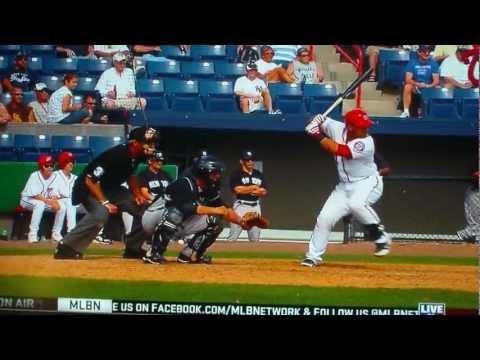 Jhonatan Solano Spring Trainning 15-03-12 VS Yankees en Viera-FL.