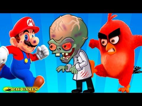 Plants Vs Zombies 2 Angry Birds Vs Super Mario Run Evil Mario Vs Dr. Zomboss