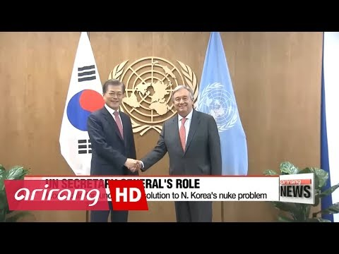 South Korean President Moon seeks UN chief's active role in mediating North Korea ...