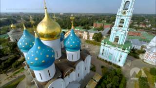 The Trinity Lavra of St. Sergius / Троице-Сергиева лавра(The Trinity Lavra of St. Sergius, Sergiev Possad, Russia. Russian golden Ring. Aerial video by BaikalNature Team. Свято-Троицкая Сергиева Лавра, Сергиев ..., 2015-01-13T02:18:16.000Z)