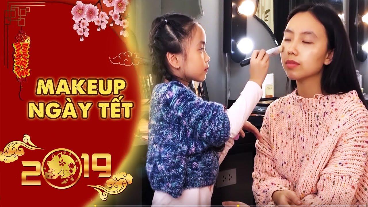 """Hướng Dẫn Makeup Đi Chơi Tết Kỷ Hợi Cùng """"Chuyên Gia Trang Điểm"""" 5 Tuổi Bé Hà Vy"""