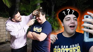 HE LOST A BET... SO I SHAVED HIS HEAD!! *Gone Wrong*