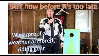 HWK Motorcycle jacket and pants waterproof CE armored 4 season