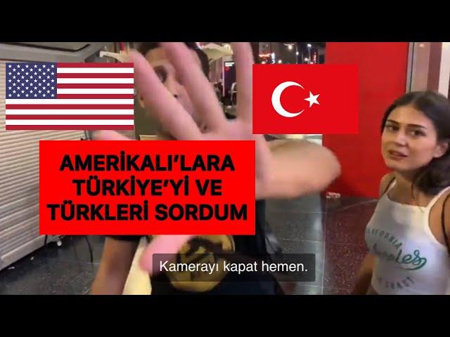 AMERİKA'LILARA TÜRKLERİ SORDUM !! ( Türkçe altyazılı )
