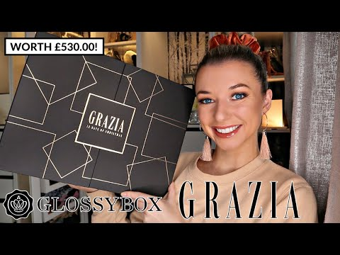 GLOSSYBOX X GRAZIA BEAUTY ADVENT CALENDAR 2020 / *This One Is Going To Sell QUICKLY, WORTH £530!!*