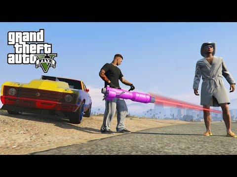 GTA V Freeroam - NIEUWE LASER GUNS EN AUTO'S TESTEN!