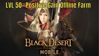 Black Desert Mobile: Safe LVL 50+ Grinding Farm Spot/Positive Gains/Offline Gains