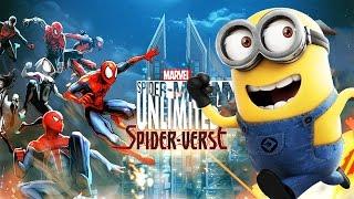 MARVEL Spider-Man Unlimited Three Spider-Men vs Minion Rush minion LIFEGUARD Full Gameplay