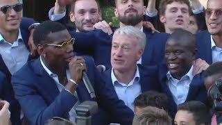 Champions du monde: Le show de Paul Pogba à l'Élysée