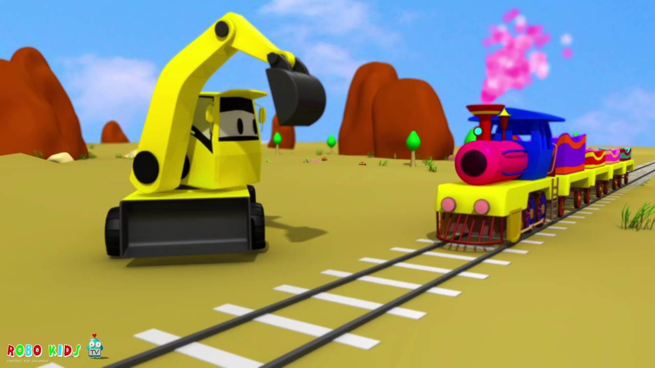 Uncategorized Vidios For Kids jcb for kids choo train videos children excavator youtube