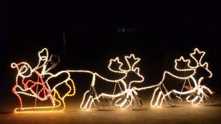 Christmas Lights 2.4m Giant Santa Sleigh With 2 Deer