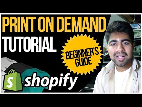Shopify Print On Demand Tutorial For Beginners 2019 (STEP BY STEP) thumbnail