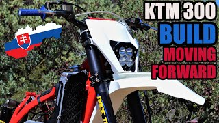 KTM 300 XC Dirt Bike Build Assembly continues