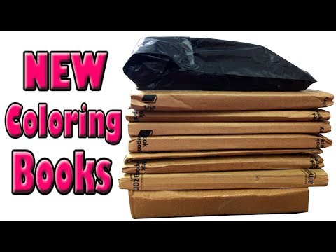 New Coloring Books Haul and Classic Childrens Books Unboxing