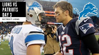 Lions VS Patriots Joint Practice Day 3! Who Will Play Tomorrow?! Detroit Lions Talk