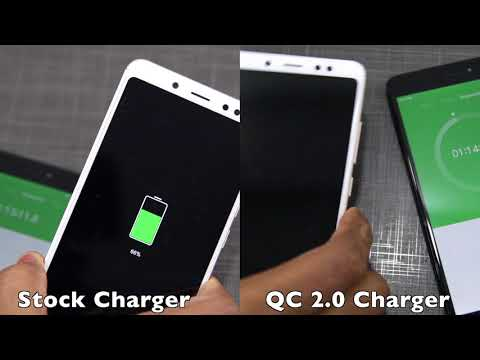 Redmi Note 5/Pro: Stock vs Quick Charger Battery Charging Test [Hinglish]