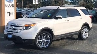 2015 Ford explorer LTD W/ Leather, Nav, AWD Review| Island Ford