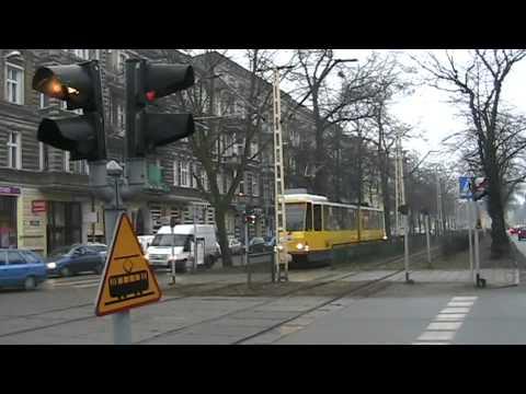 Tramwaj Na Rondzie W Szczecinie