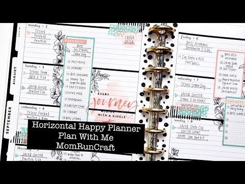 Horizontal Happy Planner: Plan With Me MomRunCraft