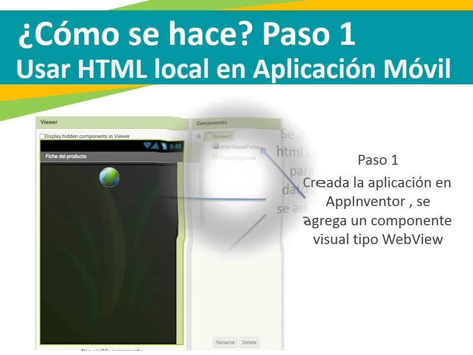 HTML local en Android con AppInventor 2