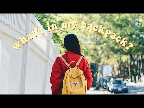 WHAT'S IN MY COLLEGE BACKPACK 2017-2018 | YELLOW FJALLRAVEN KANKEN