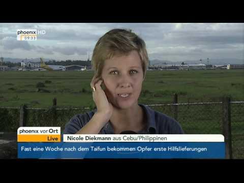 Situation auf den Philippinen - Schalte mit Nicole Diekmann 14.11.2013