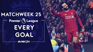 Every goal from Matchweek 25 in the Premier League | NBC Sports