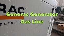 HVAC: Generac Generator   Gas Line Install