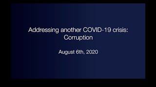 Addressing another COVID-19 crisis: Corruption
