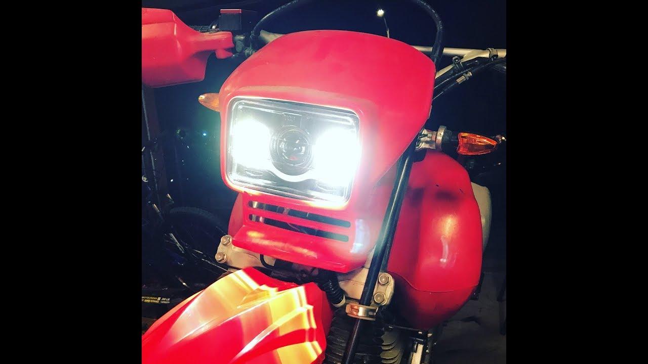 Car Headlight Bulb >> Honda XR650L LED Headlight Kit - JNS Engineering - YouTube