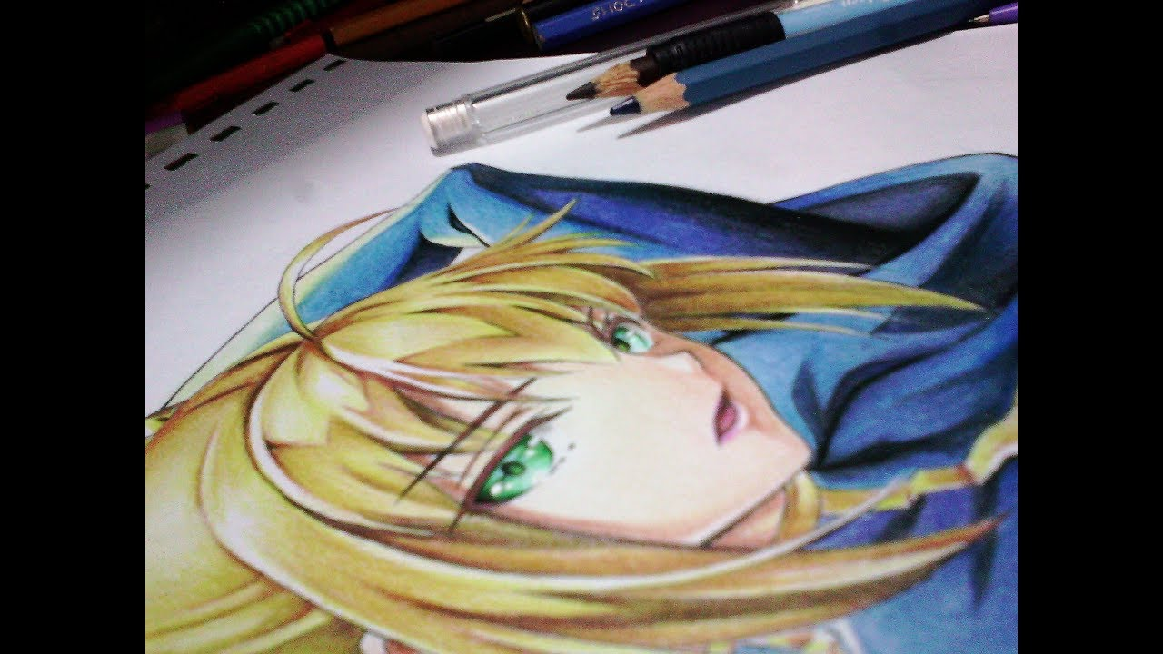 How to color skin using colored pencils anime drawing tutorial